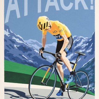 Froome Attack Original Painting