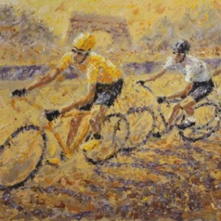Wiggins in Yellow Original Painting